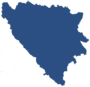 map of Bosnia-Herzegovina